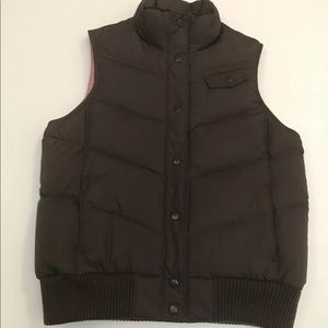 Gap puffer vest brown and pink